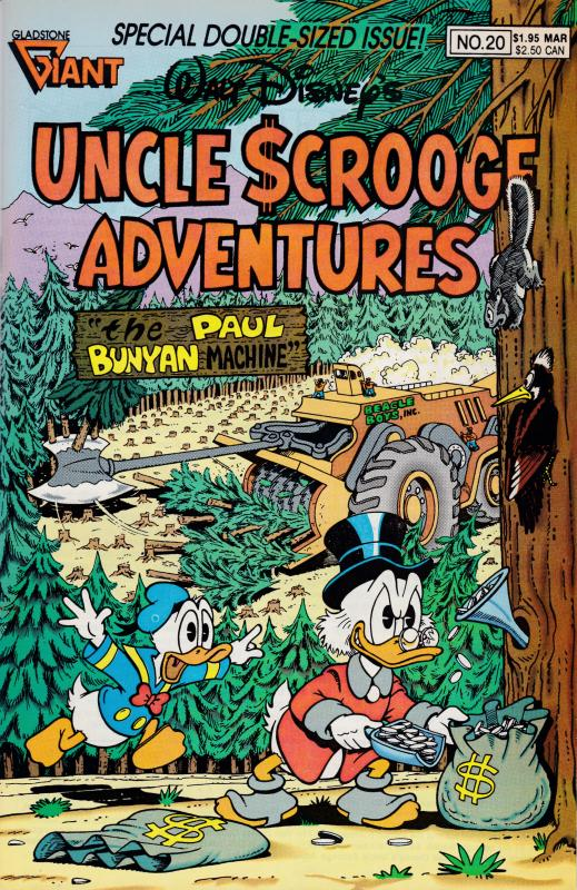 Walt Disney's Uncle Scrooge Adventures MAR. 1990 No.20 Paul Bunyon F/VF