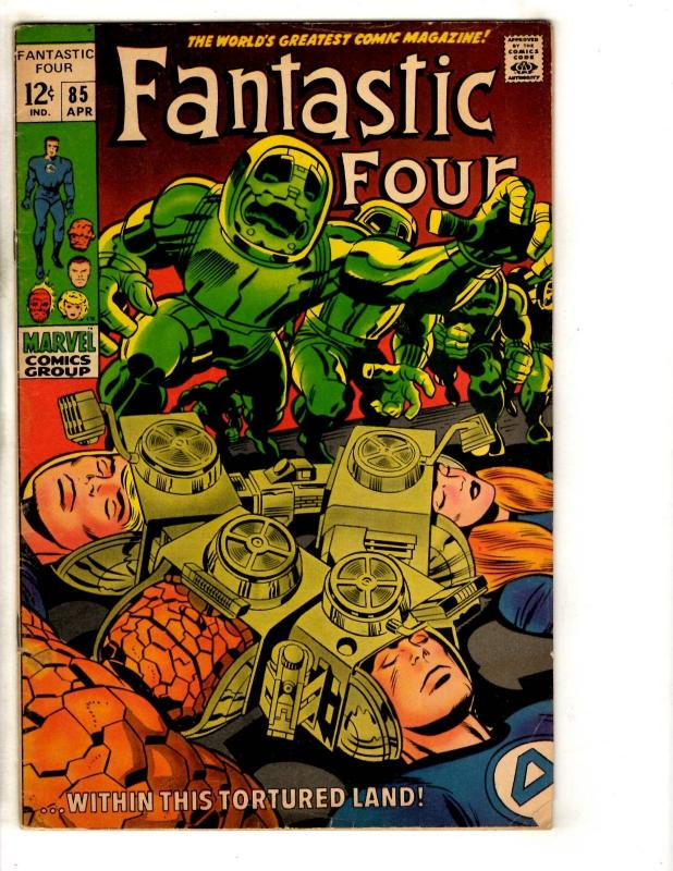 Fantastic Four # 85 FN Marvel Comic Book Thing Dr. Doom Human Torch Storm J313