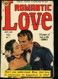 ROMANTIC LOVE #1-PAINTED COVER-AVON ROMANCE G+
