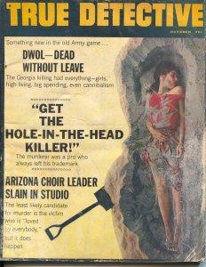 True Detective 10/1964-TD-burial photo cover-GA & AZ crime-G