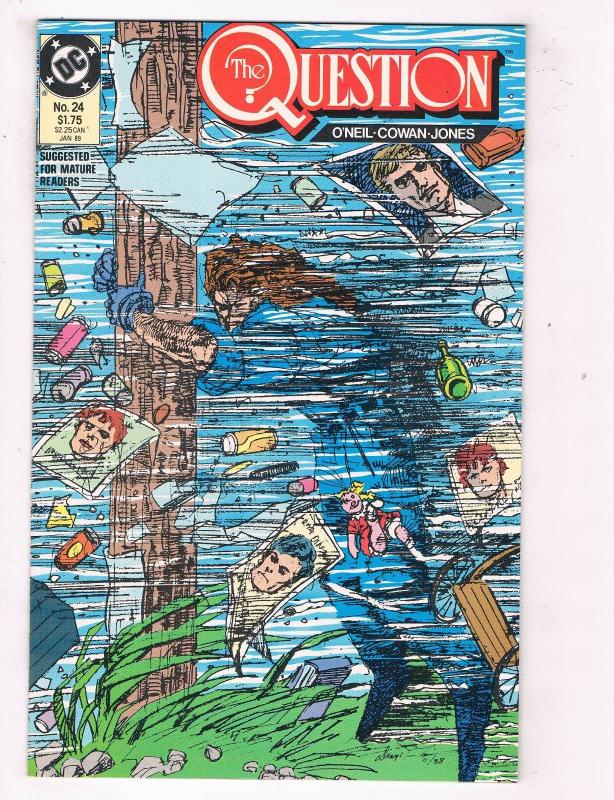 The Question #24 VF/NM DC Comics Comic Book O Neil JLA Jan 1989 DE46