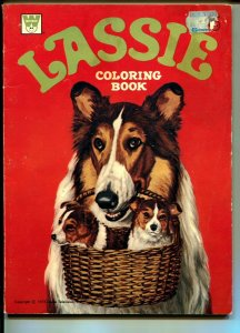 Lassie Coloring Book-1973-Whitman-photo cover-unused-VG