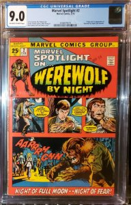 Marvel Spotlight #2 1st Appearance of Werewolf by Night CGC 9.0 VF/NM