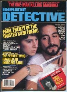 Inside Detective 7/1987-Spicy babe-pervert-murder-killing machine-pulp crime-VG