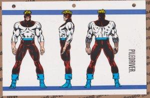 Official Handbook of the Marvel Universe Sheet- Piledriver