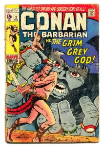 CONAN THE BARBARIAN #3 comic book 1971-GRIM GREY GOD-BARRY SMITH G
