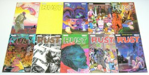 Rust #1-13 VF/NM complete series 1ST TERMINATOR IN COMICS now comics 1987 12