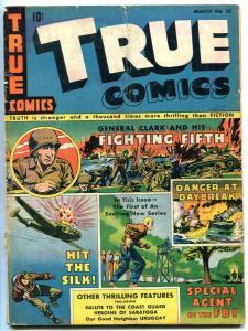 True Comics #33 1943- General Clarck- FBI Steve Sanders VG+