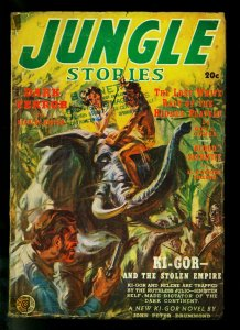 Jungle Stories Pulp #2 Summer 1939- Ki-gor - Elephant cover- G/VG