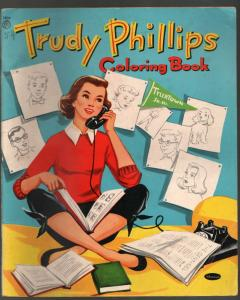Trudy Philllips Coloring Book #1804 1955-Dorothy Grider art-book series-VG