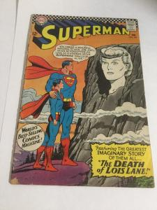 Superman 194 Vg- Very Good- 3.5 DC Comics Silver Age