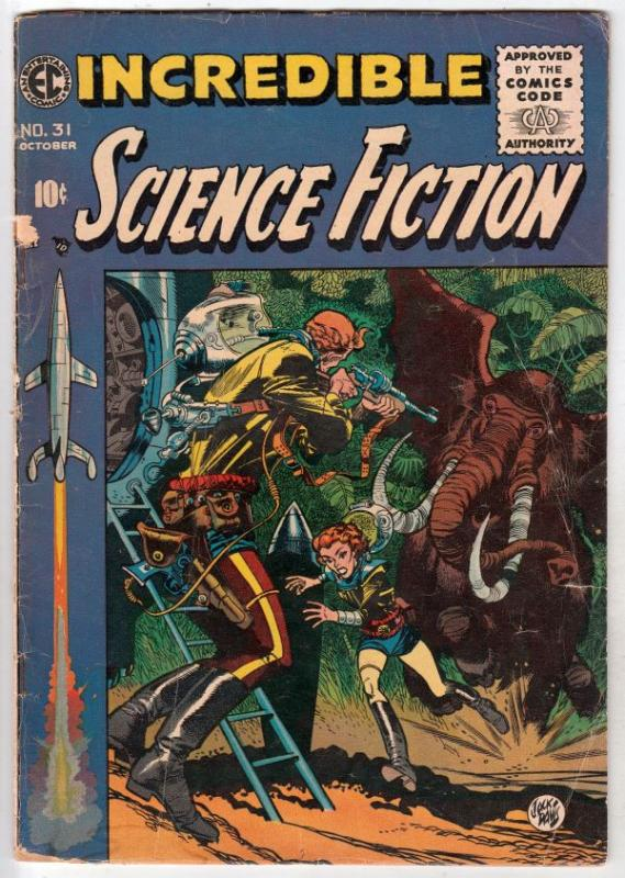 Incredible Science Fiction #31 (Oct-55) VG- Affordable-Grade