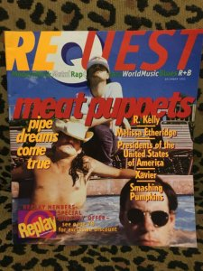 REQUEST MAGAZINE #43 December 1995 MEAT PUPPETS COVER, SMASHING PUMPKINS VG
