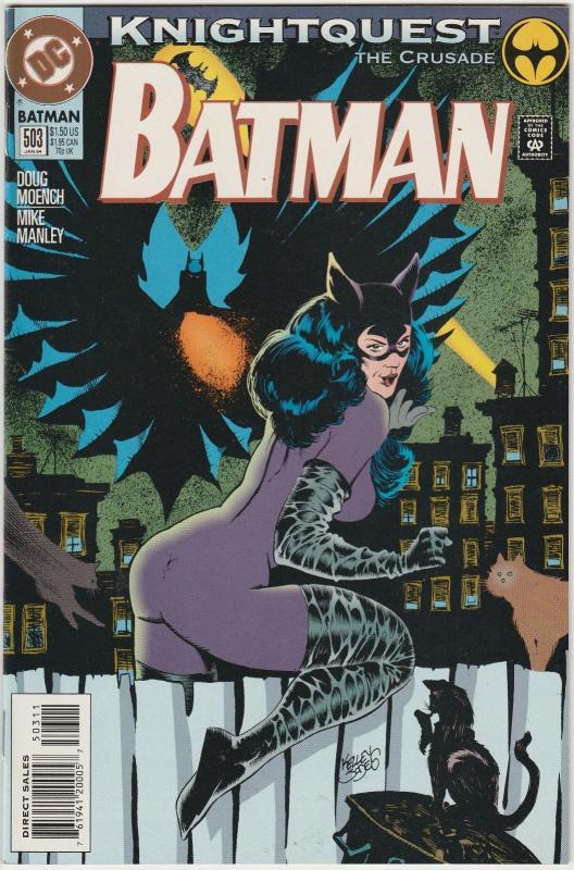 2 Batman DC Comic Books # 502 503 Azrael Catwoman Doug Moench Mike Manley TW41