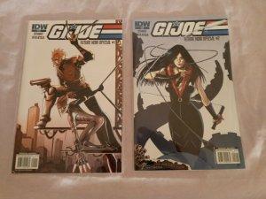 G.I. Joe Future Noir Special #1-2 COMPLETE SET SCHMIDT BEVILACQUA (IDW 2010) NM