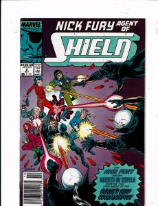 Lot of 3 Nick Fury Agent of SHIELD Marvel Comic Books #2 3 4 MS18