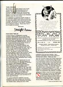 Straight Arrow Pow-Wow Vol. #4 #12 1989-- Western fanzine newsletter