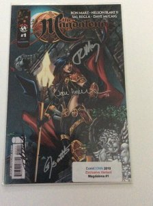 MAGDALENA #1 Comiconn 2010  Variant Signed by Ron MARZ,Blake II,Regla & Dave NM.