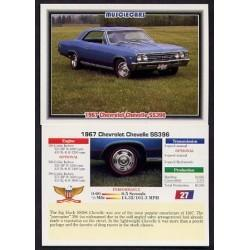 1992 Collect-A-Card Musclecars 1967 CHEVROLET CHEVELLE SS396 #27