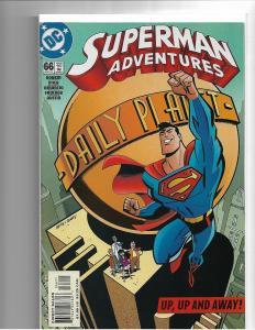 SUPERMAN ADVENTURES #66 - F/VF - RARE - LAST ISSUE -