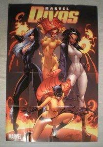 MARVELS DIVAS Promo Poster, Femmes, 24x36, 2009, Unused, Black Cat, Tigress