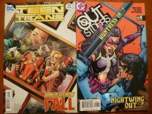 2 Near-Mint DC Comic: TEEN TITANS #24 (2016) & OUTSIDERS #8 (2004) Huntress