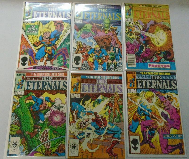 Eternals (2nd Series) Set:#1-12, Direct Edition 8.0/VF #3 is N.S, 6.0/FN (1985)