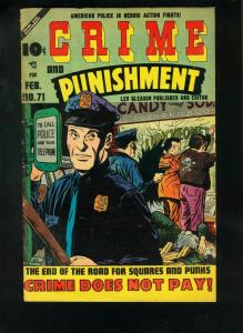 CRIME AND PUNISHMENT #71 1955-YOUNG PUNKS-LAST PRECODE ISSUE-very good VG