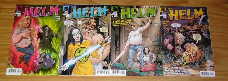 the Helm #1-4 VF/NM complete series - bart sears - his super powers hate him!