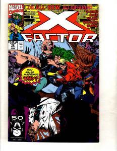 Lot Of 12 X-Factor Marvel Comic Books # 72 73 75 76 77 78 79 80 81 82 83 84 MF11