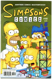 SIMPSONS COMICS 182, VF-, Simpsons, Homer, Lisa, Bongo,1993, Marge,more in store