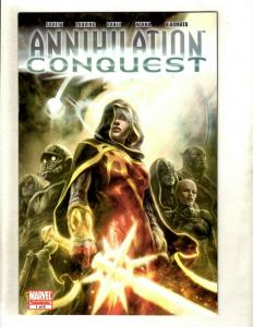 Lot Of 7 Annihilation Conquest Marvel Comic Books # 1 2 3 4 5 6 + Prologue SM8