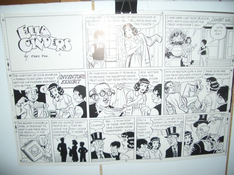 ELLA CINDERS ORIGINAL PRODUCTION ART OCT 7 '51 FRED FOX VG