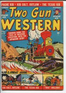 TWO GUN WESTERN #8-1951-ATLAS-APACHE KID-DOC HOLIDAY-KID COLT-TEXAS KID-vg minus