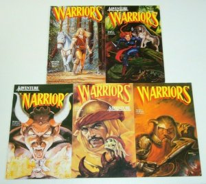 Warriors #1-5 VF/NM complete series - adventurers spin-off - early adam hughes