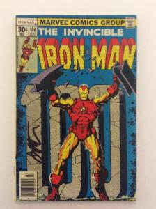 INVINCIBLE IRON MAN #100 - Signed by Cover Artist Jim Starlin with COA