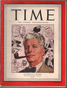 Time 11/26/1945-cartoonist H.T. Webster-FN