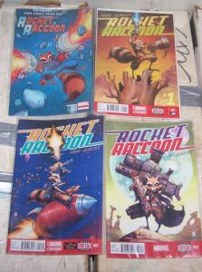 ROCKET RACCOON # 1 2 3   COMPLETE 2015 MARVEL+ FCBD 2014 +TALES FROM THE HALF