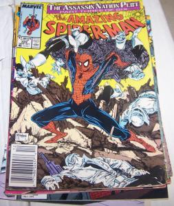 Amazing Spider-Man # 322 assassin nation plot pt 3 mcfarlane silver sable