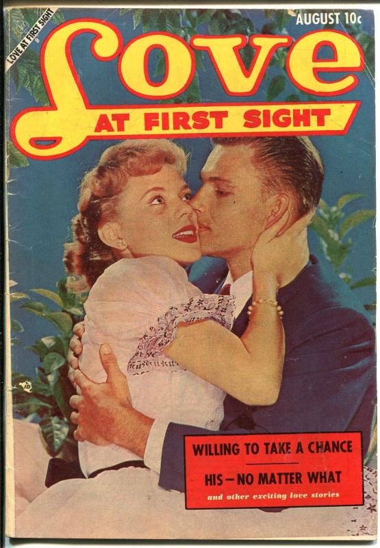 Love At First Sight #23 1953-Ace-spicy art-headlights-swim suit panels-VG