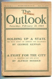 Outlook 2/21/1903-  True Story of Addicks and Delaware VG