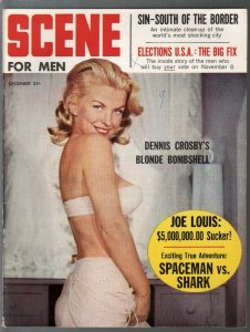 Scene For Men 12/1960-football violence-political fix-cheesecake pix-FN-