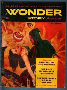 WONDER STORY ANNUAL 1951-SCI-FI-GREAT COVER FN