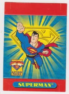 1996 Skybox Superman Action Packs promo card #P1