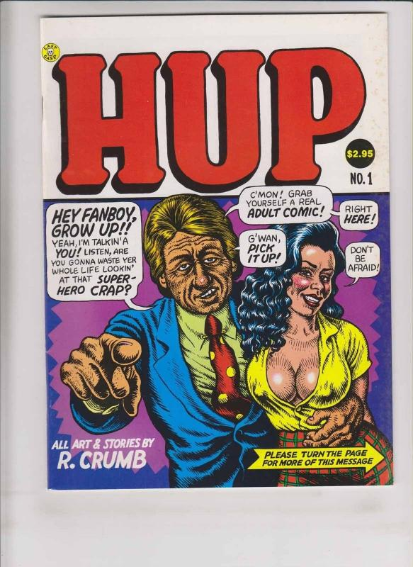 Hup #1 FN (3rd) robert crumb  mr. natural  devil girl  last gasp underground
