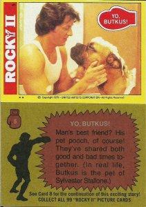 1979 Topps Rocky II #5 Yo, Butkus! - NM-MT > Rocky Balboa > Sylvester Stallone