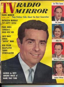 TV Radio Mirror-George de Witt-Pat Boone and Loretta Young-June-1958
