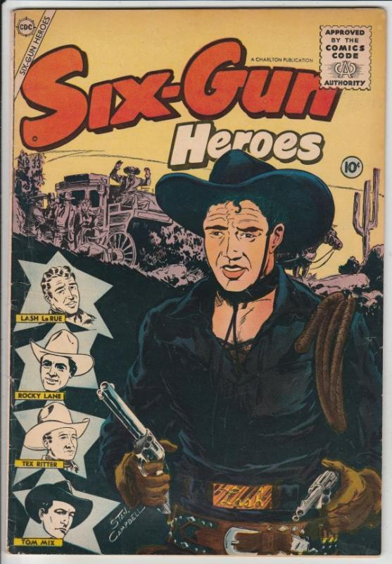 Six-Gun Heroes #33 (Apr-55) VF+ High-Grade Hopalong Cassidy, Rocky Lane, Smil...