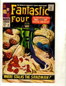 Fantastic Four # 61 VF- Marvel Comic Book Silver Age Thing Human Torch Doom GK1