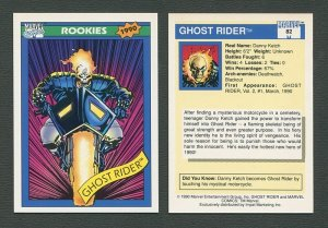 1990 Marvel Comics Card  #82 (Ghost Rider)   NM-MT